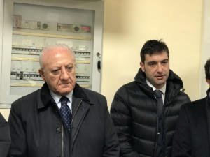 """Inaugurazione della nuova risonanza magnetica e dalla UMACA all'Azienda Ospedaliera """"San Pio"""" di Benevento con il Presidente De Luca - 7 dicembre 2019"""