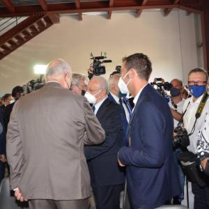 Con il Presidente De Luca all'hub vaccinale di Ponte Valentino - 5 luglio 2021