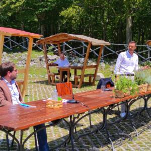 Al Parco Taburno - Camposauro per la presentazione della mia legge regionale per la valorizzazione della sentieristica - 26 giugno 2020