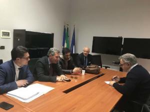 Incontro a Palazzo Santa Lucia con la Provincia di Benevento sul tema della viabilità - 30 marzo 2018